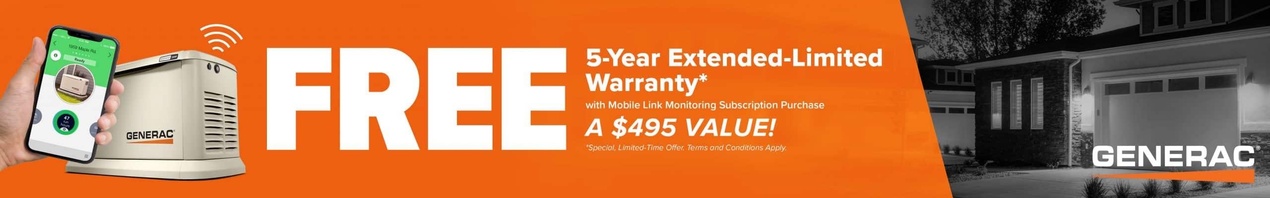 Generac 5-year Extended Warranty